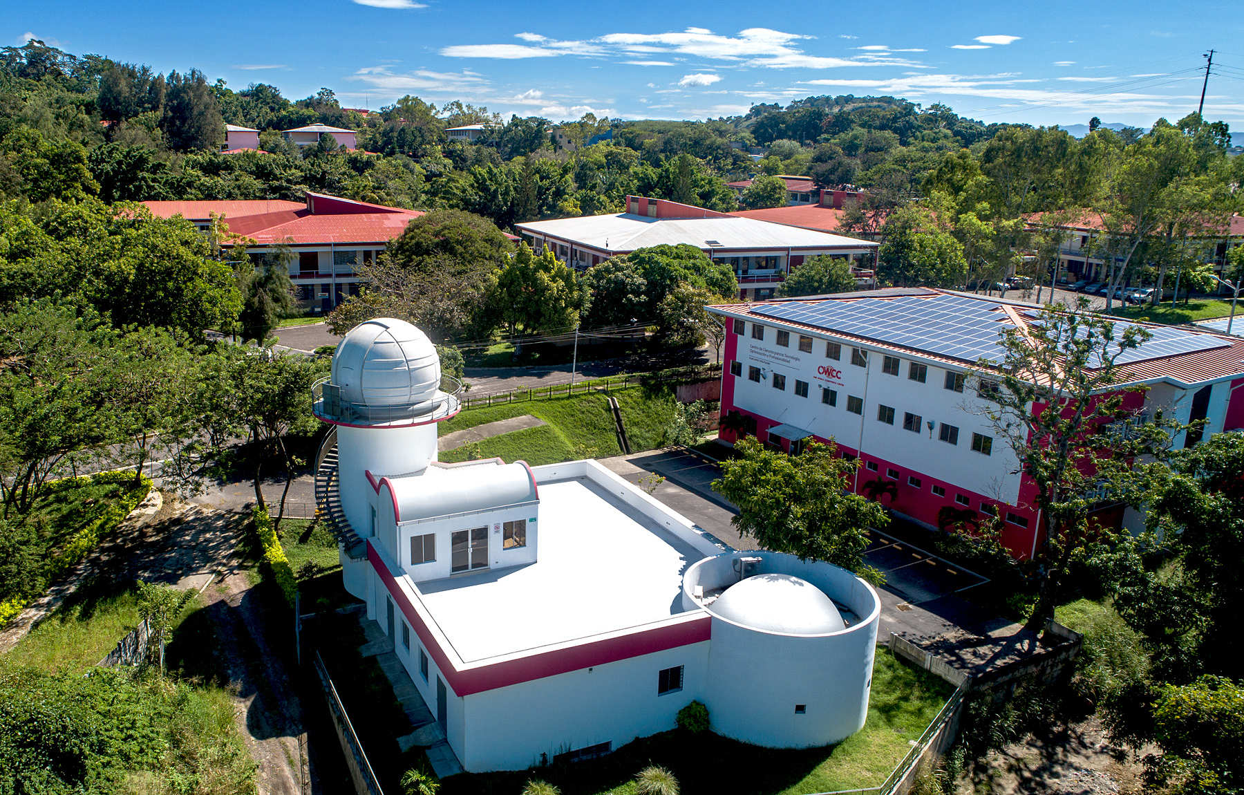 Foto aérea OMM y Campus UDB para portada