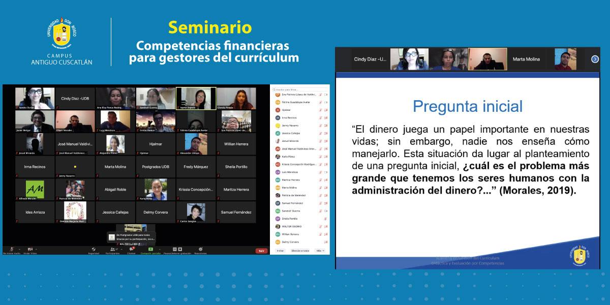 Graduados de la Maestría en Gestión del Currículum imparten seminario especializado en educación financiera