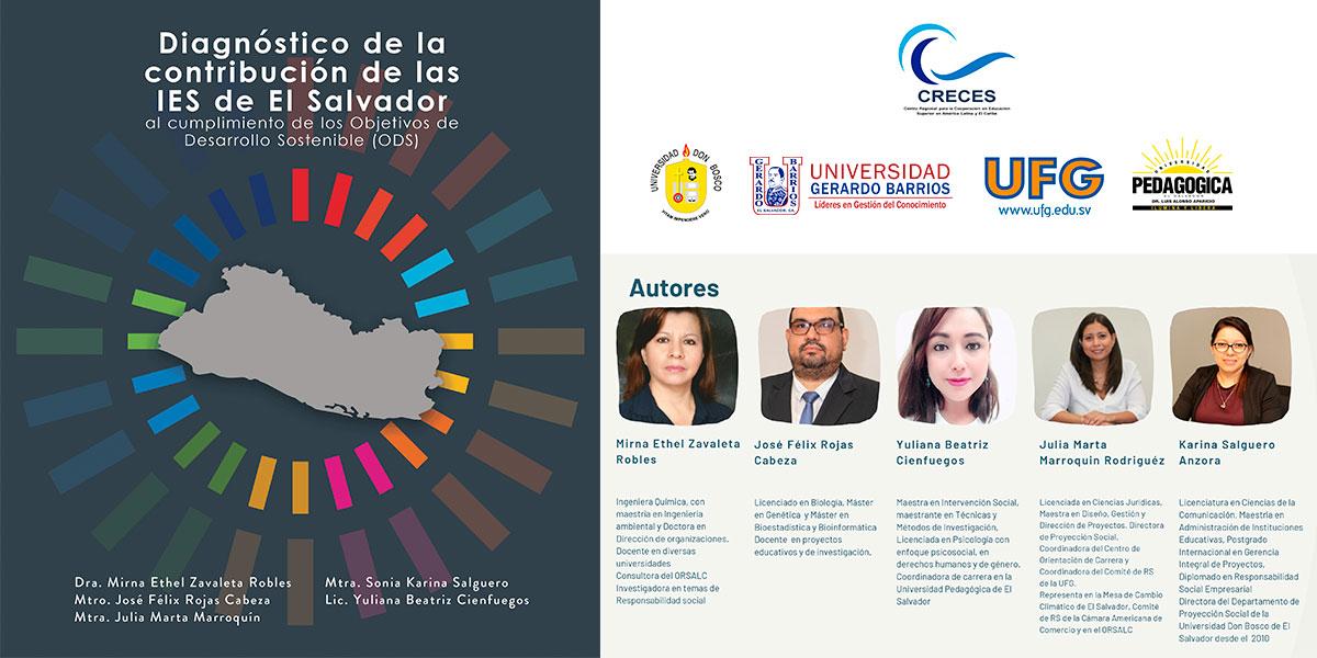 CRECES núcleo El Salvador presenta diagnóstico de la contribución de las IES al cumplimiento de los ODS