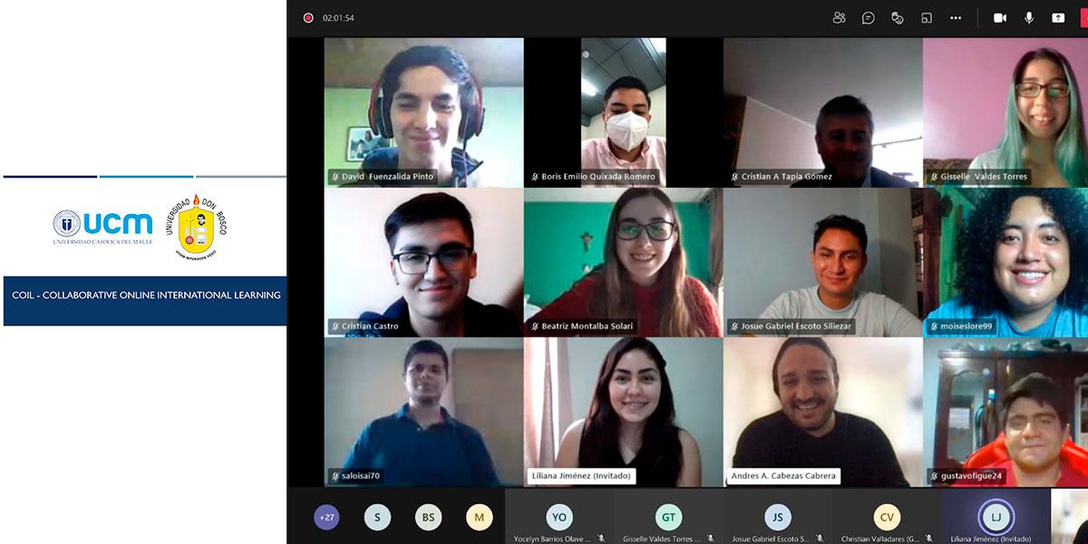 Escuela de Biomédica UDB participa en actividad bajo la metodología Aprendizaje Colaborativo Internacional en Línea