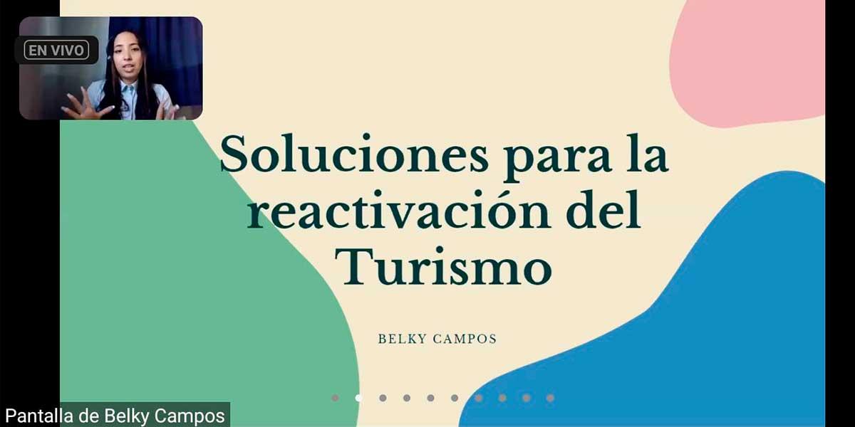 Alumna de Turismo UDB presenta ponencia en Encuentro de Estudiantes de Turismo organizado por la UTEM de Chile