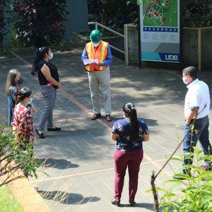 La Universidad Don Bosco realiza simulacro de evacuación ante terremotos