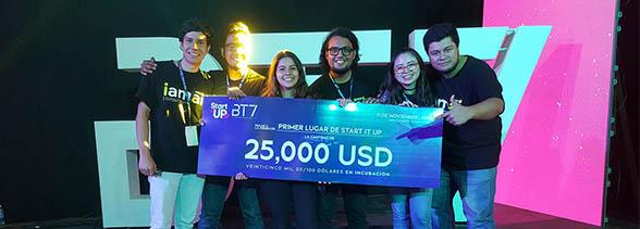 Emprendimiento de estudiantes UDB gana primer lugar en BT7